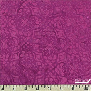 Kate Spain for Moda, Longitude Batiks, RAYON, Floral Tile Magenta