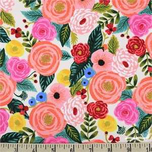 Rifle Paper Co. for Cotton and Steel, English Garden, RAYON, Juliet Rose Cream