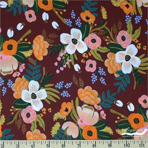 COMING SOON, Rifle Paper Co. for Cotton and Steel, Amalfi, RAYON, Lively Floral Burgundy