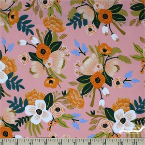 COMING SOON, Rifle Paper Co. for Cotton and Steel, Amalfi, RAYON, Lively Floral Coral
