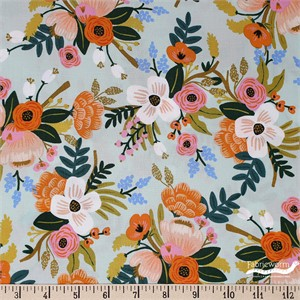 Rifle Paper Co. for Cotton and Steel, Amalfi, RAYON, Lively Floral Mint