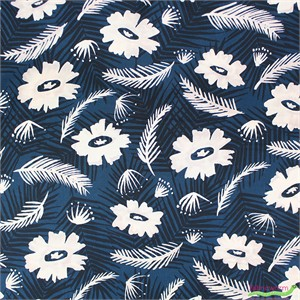 Cotton and Steel, Poolside, RAYON, Palm Springs Bouquet Blue