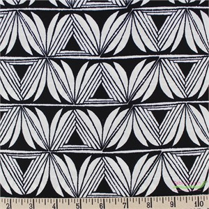 Sarah Watts for Cotton and Steel, Santa Fe, RAYON, Pottery Black