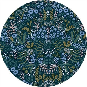 Rifle Paper Co. for Cotton and Steel, Menagerie, RAYON, Tapestry Navy