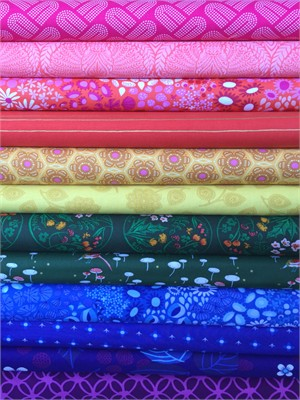Fabricworm Custom Bundle, Radiant Rainbow in FAT QUARTERS 11 Total