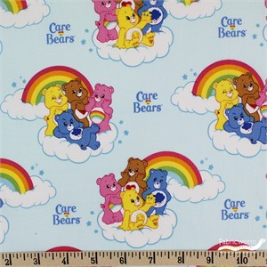 Camelot Fabrics, Care Bears, Rainbow Blue