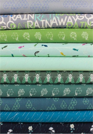 Rashida Coleman-Hale for Cotton and Steel, Raindrop, Storm in FAT QUARTERS 10 Total (Pre-cut)
