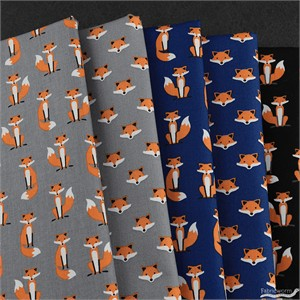 Andie Hanna for Robert Kaufman, Andie's Minis, Red Fox in FAT QUARTERS 5 Total