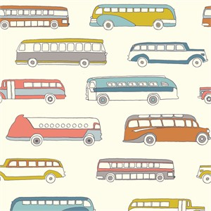 Jay-Cyn Designs for Birch Organic Fabrics, Trans-Pacific, Retro Bus
