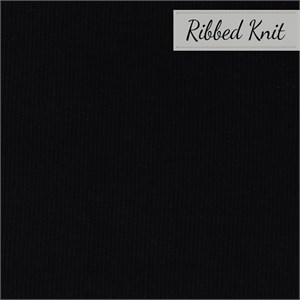 Birch Organic Fabrics, RIBBED KNIT, Black