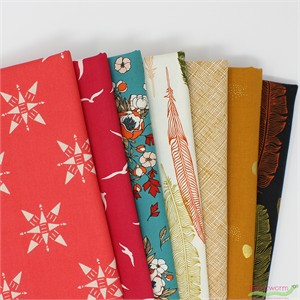 Fabricworm Custom Bundle, Romantic Wandering in FAT QUARTERS 7 Total (PRECUT)