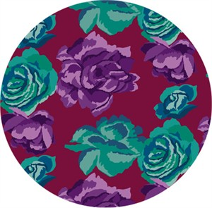 Kaffe Fassett for Free Spirit, Fall 2017, Rose Clouds Maroon