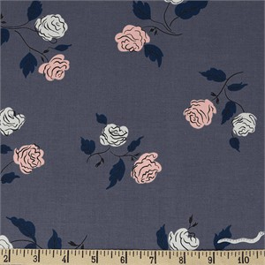 Kimberly Kight for Cotton and Steel, Steno Pool, Roses Shadow