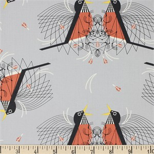 COMING SOON, Charley Harper for Birch Organic Fabrics, Backyard, Round Robin