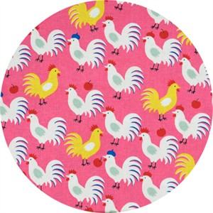 Sevenberry, SHEETING, Rooster Beret Hot Pink