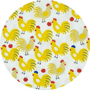 Sevenberry, SHEETING, Rooster Beret Sunflower