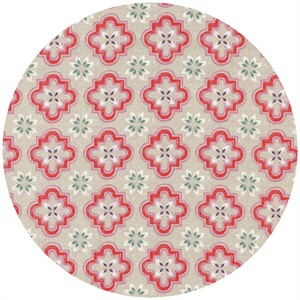 Sarah Watts for Cotton and Steel, Honeymoon, Porch Tile Coral