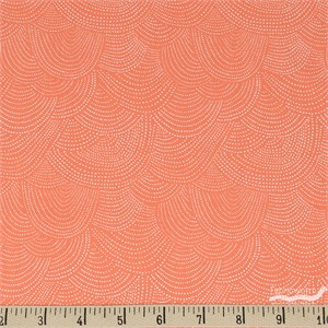 Rae Ritchie for Dear Stella, Chroma Basics, Scallop Dot Tangerine