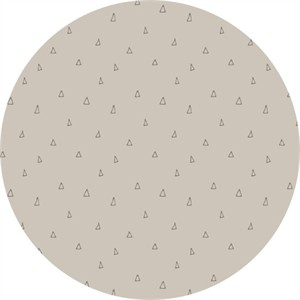 Camelot Fabrics, Hello, My Deer, Scattered Triangles Light Taupe