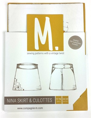Sewing Pattern, Compagnie M, Nina Skirt & Culottes