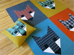 Sewing Pattern, Elizabeth Hartman, The Fancy Fox II Quilt and Pillows