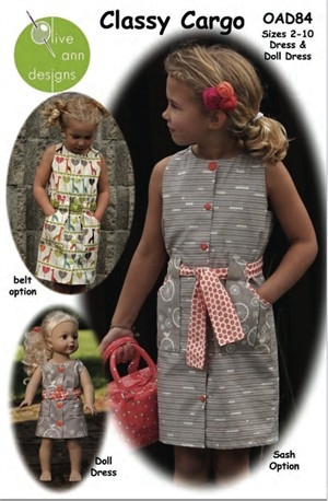 Olive Ann Designs, Sewing Pattern, Classy Cargo Dress