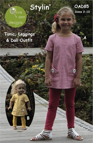 Olive Ann Designs, Sewing Pattern, Stylin' Tunic & Leggings