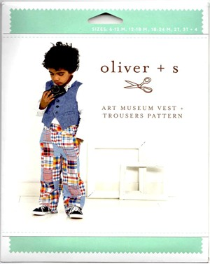 Oliver + S, Sewing Pattern, Art Museum Vest + Trousers (6m-4)