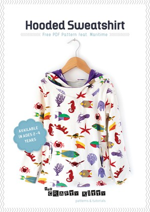 Sewing Tutorial & Free Pattern | Hooded Sweatshirt | By The Crafty Kitty