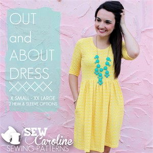 Sew Caroline, Sewing Pattern, The Out and About Dress