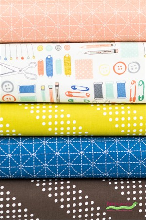 Fabricworm Custom Bundle, Sewing Room in FAT QUARTERS 5 Total