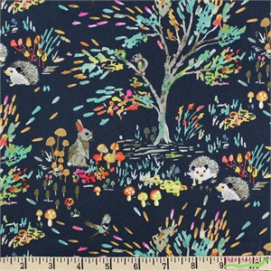 Betsy Olmsted for Windham, Enchanted Forest, Shady Meadow Navy