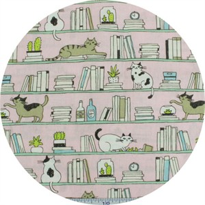 Cosmo Textiles, Good Morning, Shelf Cat Pink