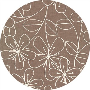 Sevenberry for Robert Kaufman, Cotton/Flax Prints, CANVAS, Simple Flower Grey