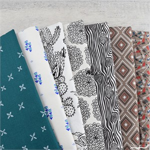 Fabricworm Custom Bundle, Sketched Desert FAT QUARTERS 7 Total