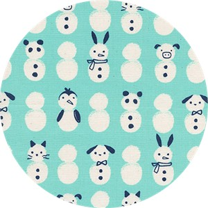 Cotton and Steel, Noel, Snow Babies Mint