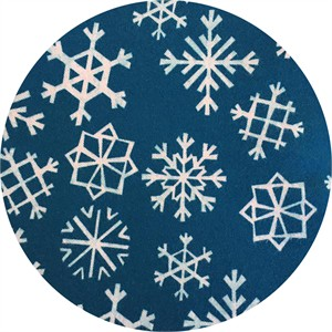 Cotton and Steel, Garland, FLANNEL, Snowflakes Blue