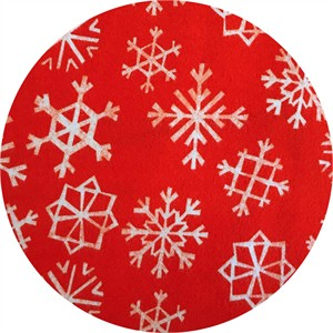Cotton and Steel, Garland, FLANNEL, Snowflakes Cherry