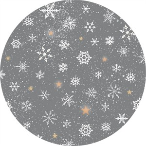 Quilting Treasures, Woodland Wonder, Snowflakes Dark Grey