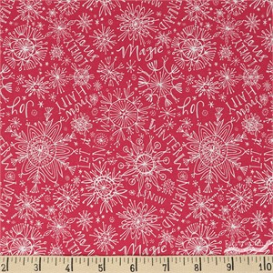 Cori Dantini for Blend, Merry and Bright, Snow Happy Red