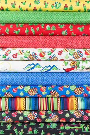 Windham Fabrics, South of the Border in FAT QUARTERS 10 Total (PRECUT)