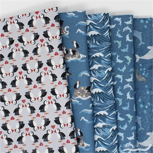 Lewis & Irene, Spindrift Deep Sea in FAT QUARTERS 5 Total (PRECUT)