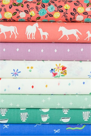 Fabricworm Custom Bundle, ORGANIC, Spring Things in FAT QUARTERS 8 Total