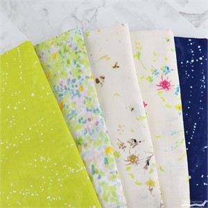 Fabricworm Custom Bundle, DOUBLE GAUZE, Star Floral 5 Total