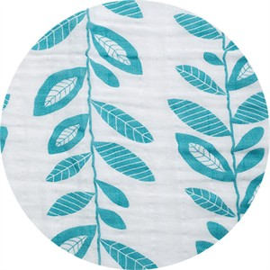 Shannon Fabrics, Embrace, DOUBLE GAUZE, Stem to Stem Teal