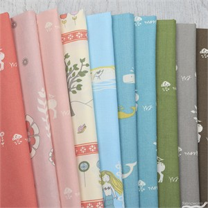 AVAILABLE FOR PREORDER, Jay-Cyn Designs for Birch Organic Fabrics, Storyboek Drie in FAT QUARTERS 10 Total