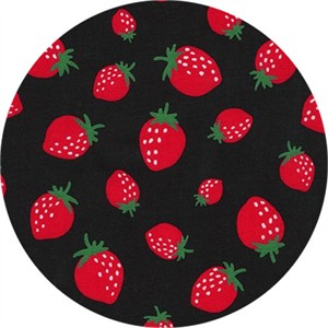 Sevenberry for Robert Kaufman, Mini Prints, Strawberry Black