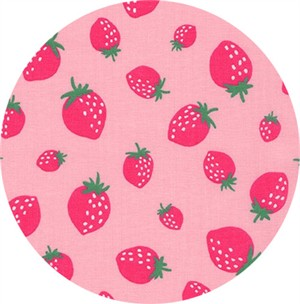 Sevenberry for Robert Kaufman, Mini Prints, Strawberry Pink