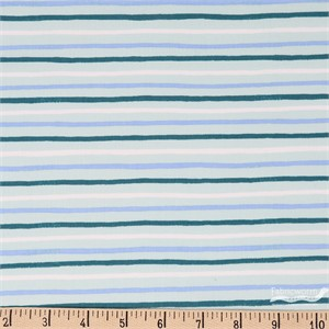 Rifle Paper Co. for Cotton and Steel, English Garden, Stripes Mint