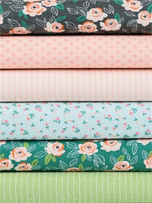 Lella Boutique for Moda, Sugar Pie in FAT QUARTERS 6 Total